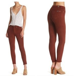 NWT 7 For All Mankind Faux Suede Skinny Pants